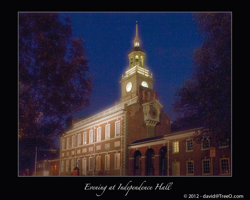 Evening at Independence Hall - Center City Philadelphia - July 13, 2008