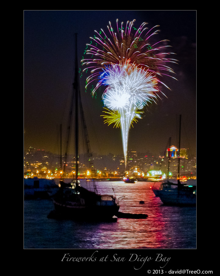 Fireworks at San Diego Bay