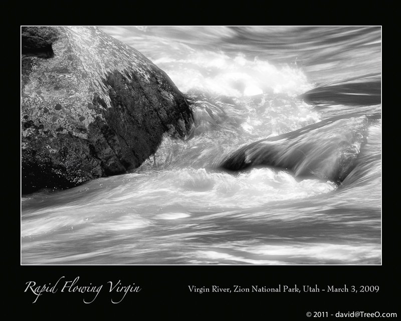 Rapid Flowing Virgin - Virgin River, Zion National Park, Utah - March 3, 2009