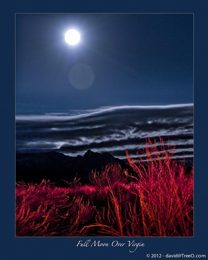 Full Moon Over Virgin - Virgin, Utah - February 11, 2009