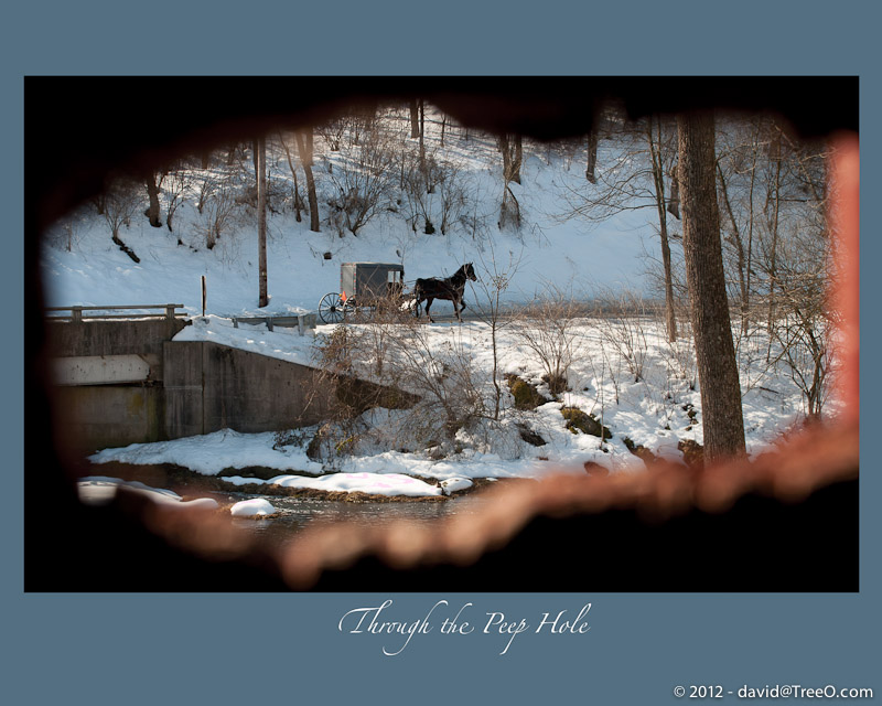 Through the Peep Hole - Poole Forge Covered Bridge, Lancaster County, Pennsylvania - February 21, 2010