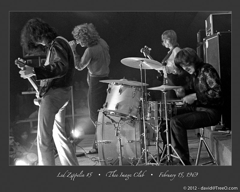 Led Zeppelin #5 - Led Zeppelin - First U.S. Tour  - Thee Image - February 15, 1969