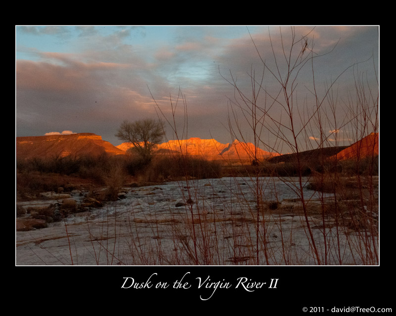 Dusk on the Virgin River II - Virgin, Utah - February 23, 2009