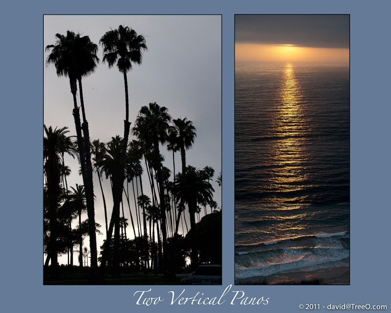 Two Vertical Panos - Santa Monica, California - June 28 and  July 18, 2009