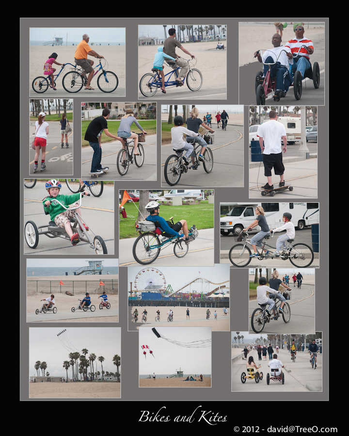 Bikes and Kites - Santa Monica, California - June 20, 2009