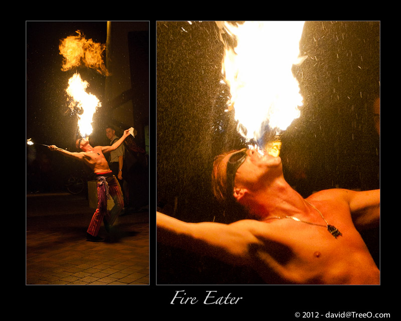Fire Eater - Seaport Village, San Diego, California - July 22, 2010