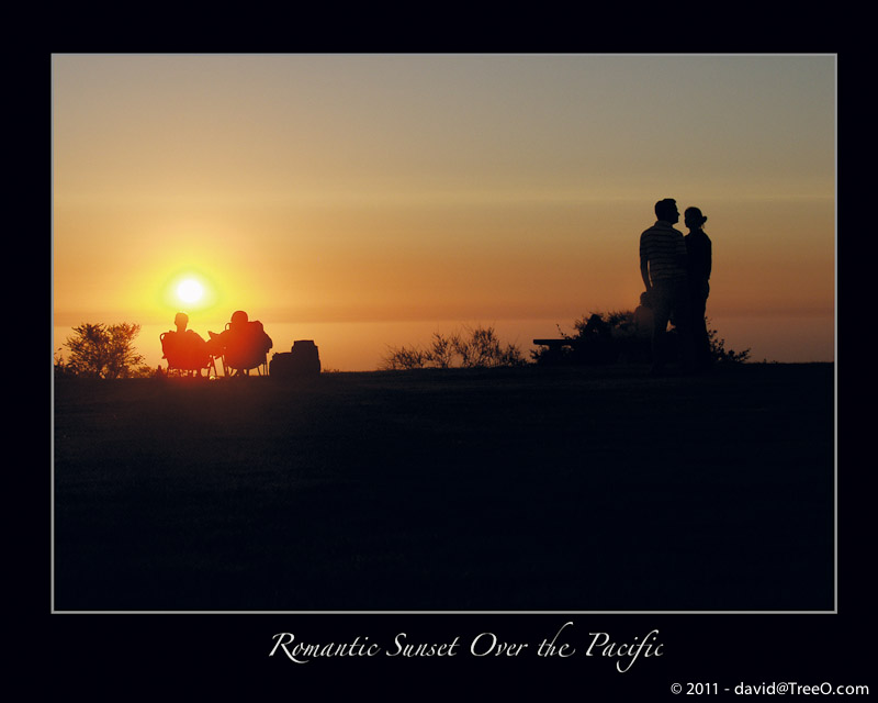 Romantic Sunset Over the Pacific - Mount Soledad, San Diego - August 17, 2007