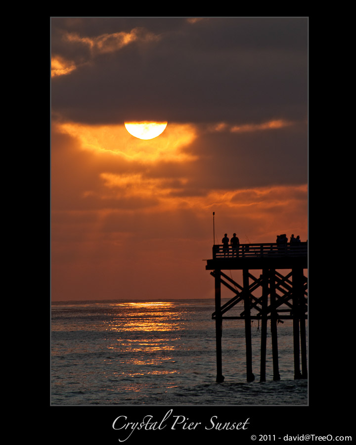 Crystal Pier Sunset - Pacific Beach, San Diego - August 8, 2010