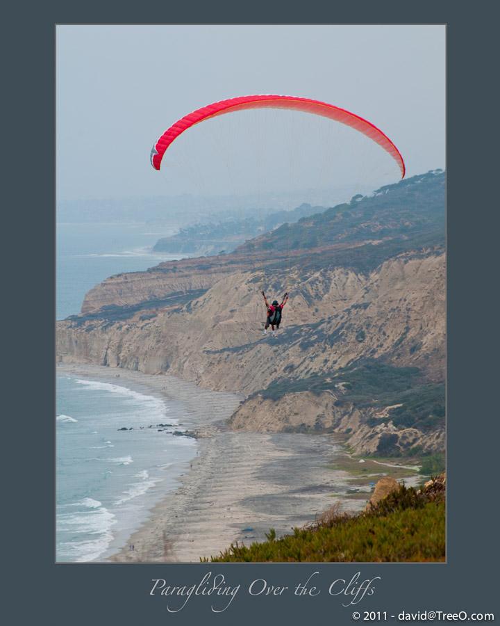 Paragliding Over the Cliffs - Torrey Pines Gliderport, La Jolla, California - August 11, 2009