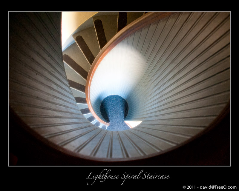 Lighthouse Spiral Staircase - Old Point Loma Lighthouse, San Diego, California - August 6, 2010