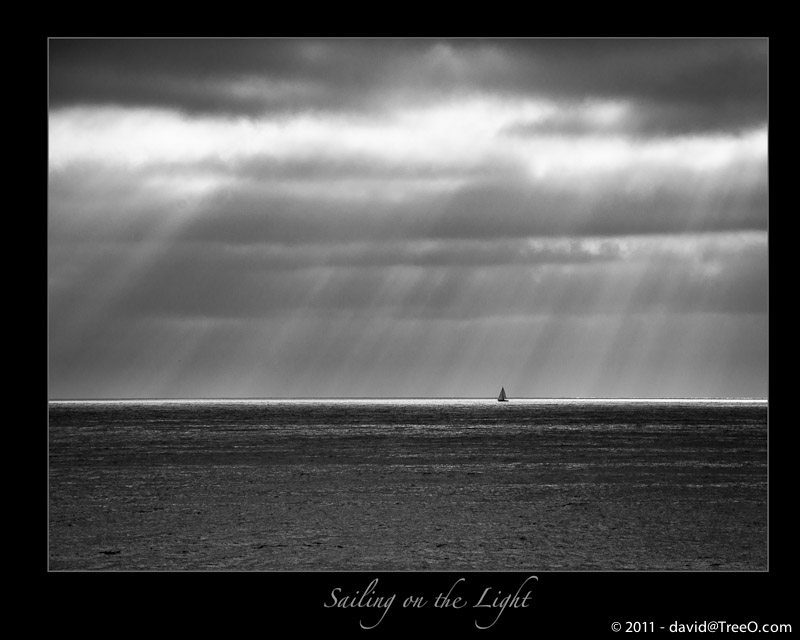 Sailing on the Light - Pacific Beach, California - September 5, 2010