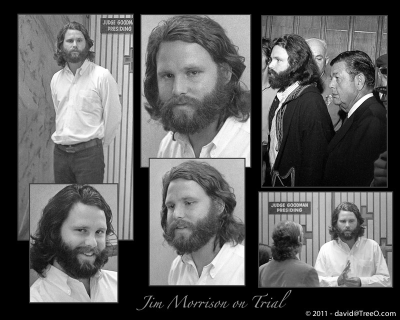Jim Morrison on Trial - Dade County Courthouse, Miami, Florida - October 10, 1970