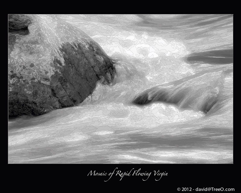 Mosaic of Rapid Flowing Virgin - Virgin River, Zion National Park, Utah - March 3, 2009