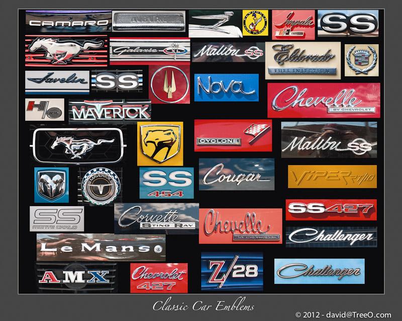 Classic Car Emblems - Passyunk Avenue Car Show, South Philadelphia, Pennsylvania - July 31, 2011