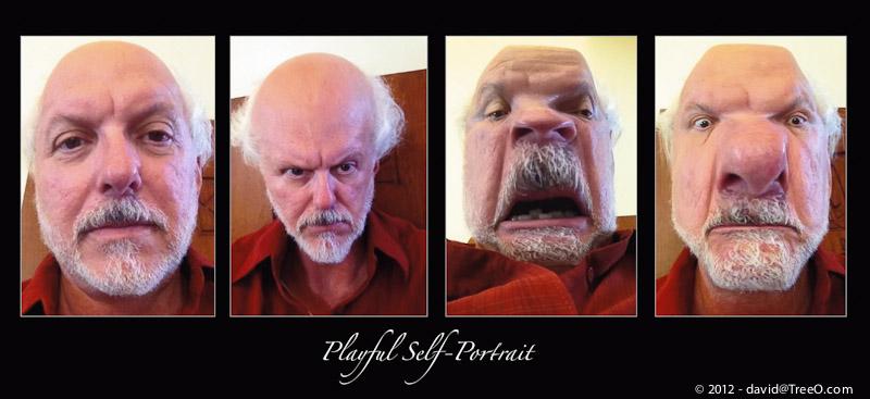 Playful Self-Portrait - Serra Mesa Public Library, San Diego - August 2, 2012