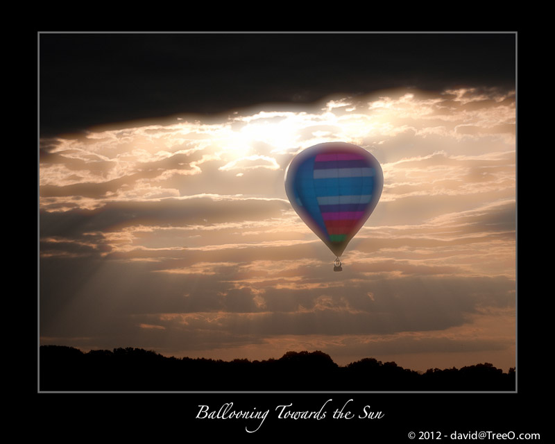Ballooning Towards the Sun - Hot Air Balloon near Wrightstown, Bucks County, Pennsylvania – September 13, 2009