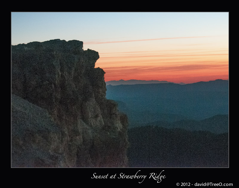 Sunset at Strawberry Ridge - Southern Utah - October 2, 2012
