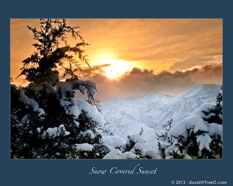 Snow Covered Sunset