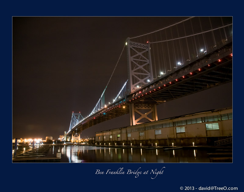 Ben Franklin Bridge at Night