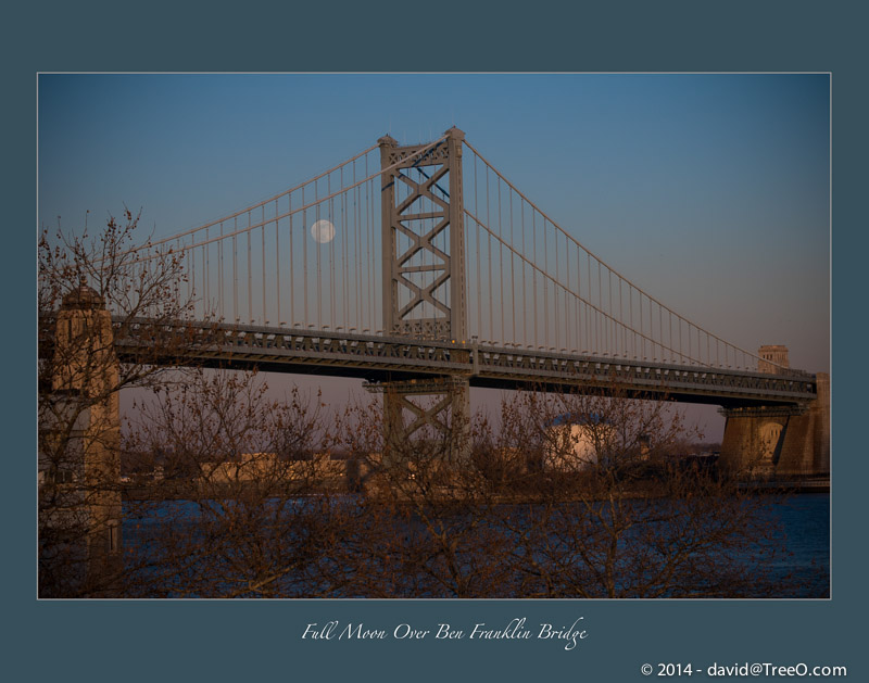 Full Moon Over Ben Franklin Bridge