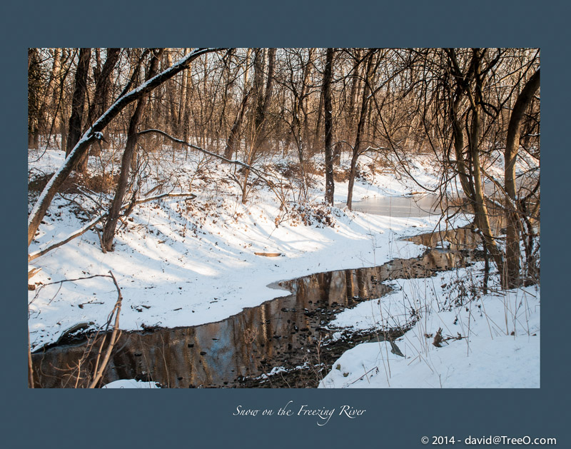 Snow on the Freezing River
