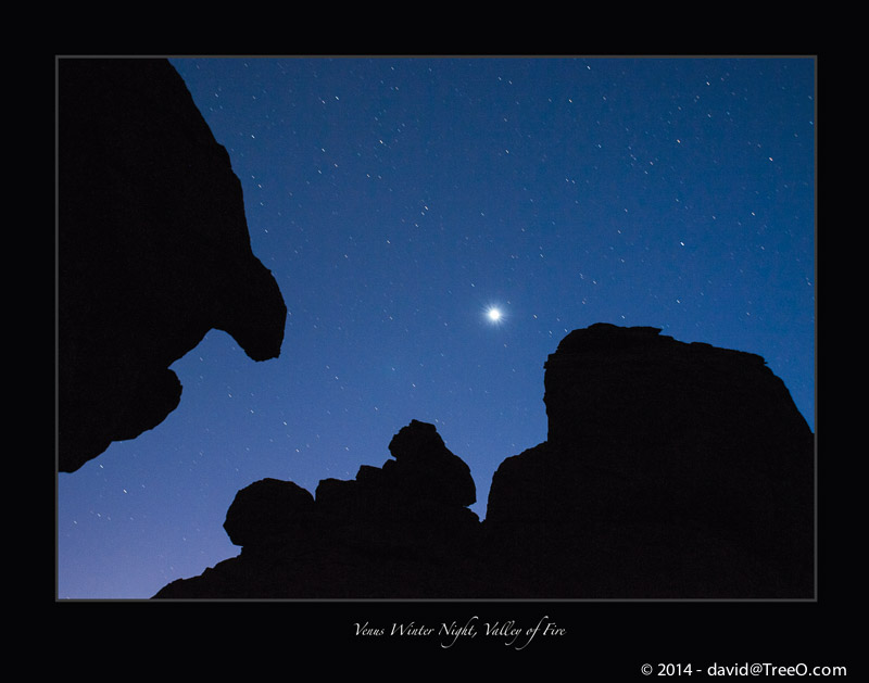 Venus Winter Night, Valley of Fire