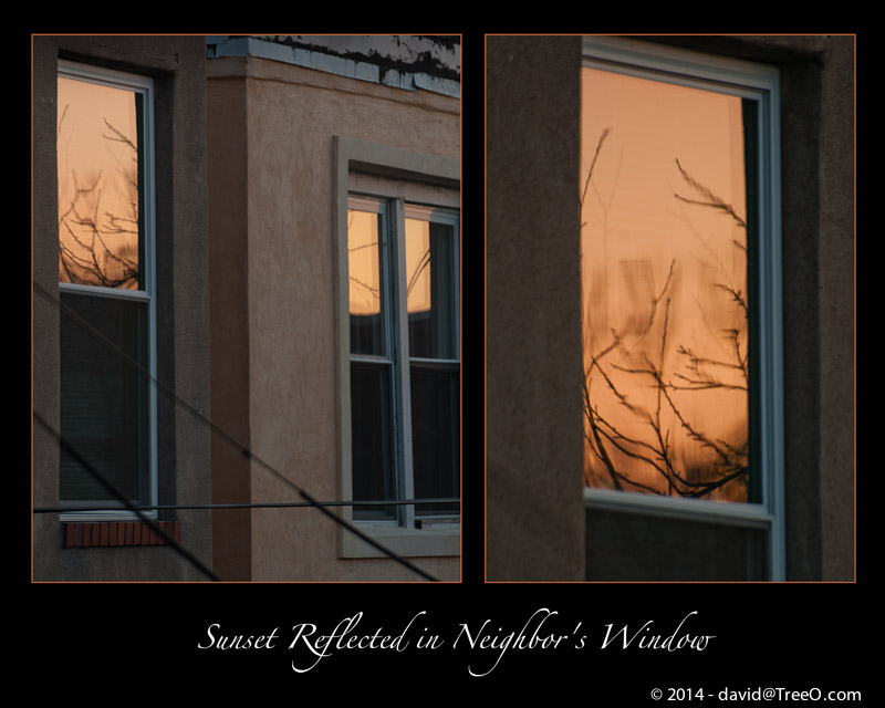 Sunset Reflected in Neighbor's Window