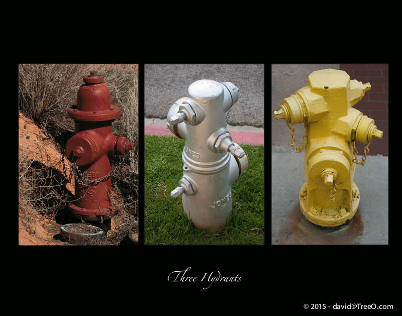 Three Hydrants