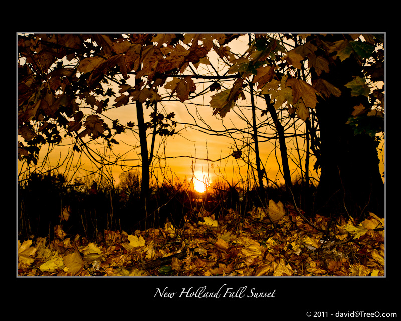 New Holland Fall Sunset