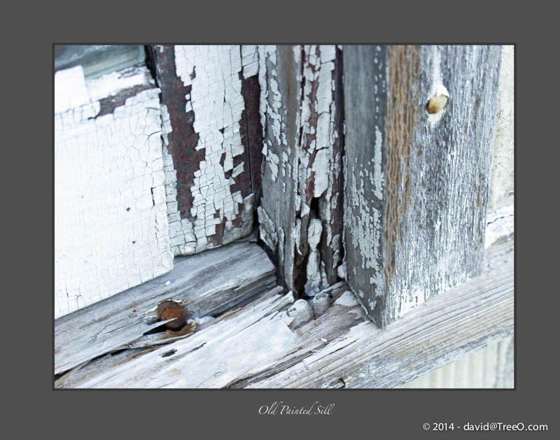 Old Painted Sill