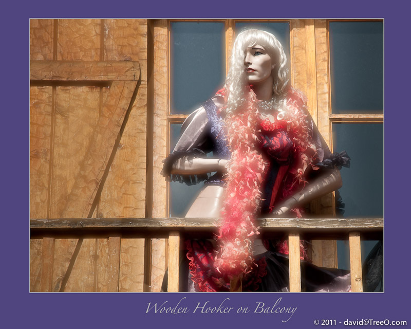 Wooden Hooker on Balcony