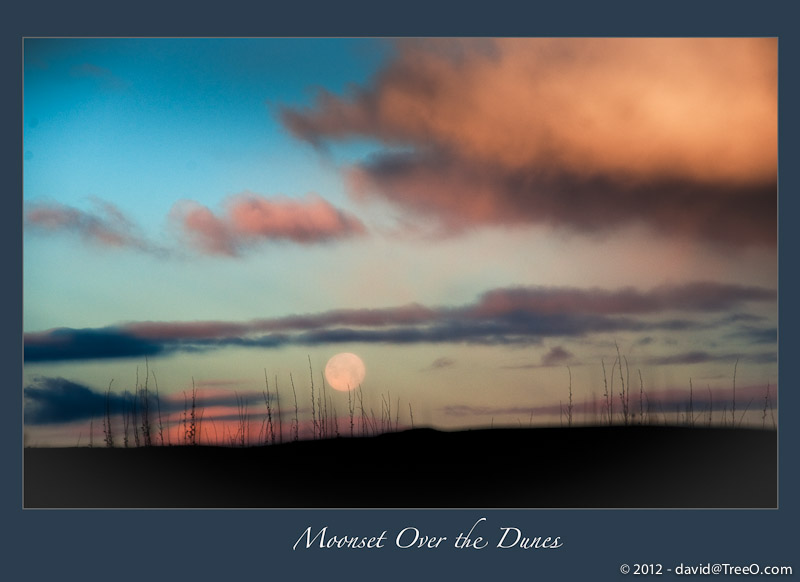 Moonset Over the Dunes