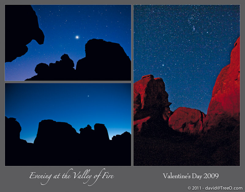 Evening at the Valley of Fire – Valentine's Day 2009