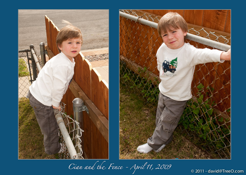 Cian and the Fence