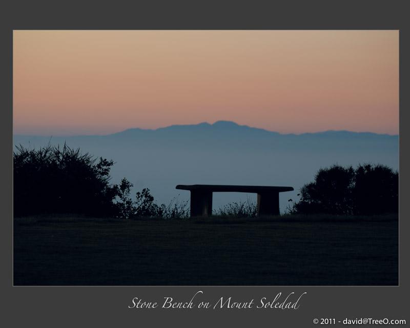 Stone Bench on Mount Soledad