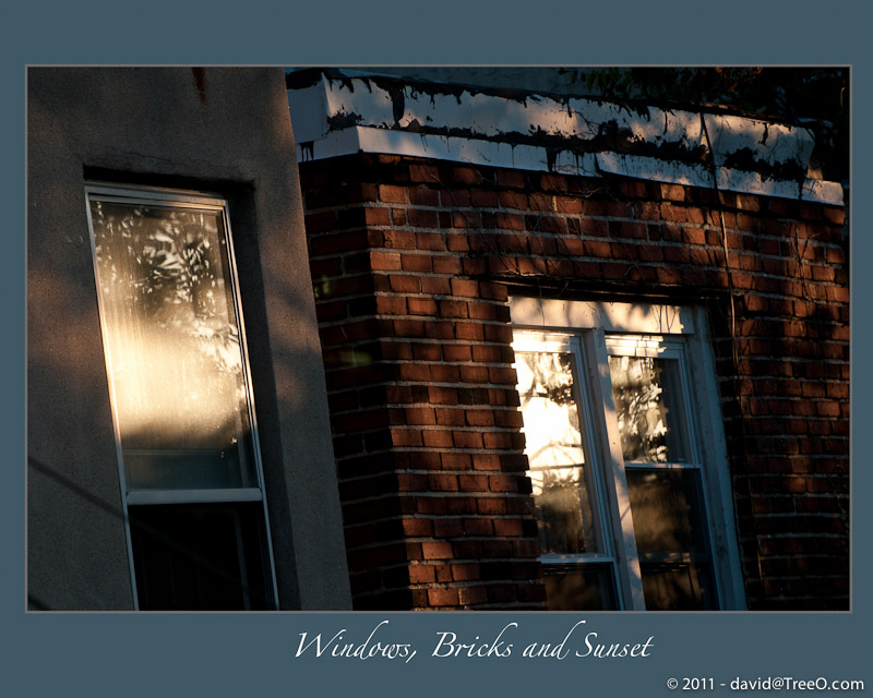Windows, Bricks and Sunset