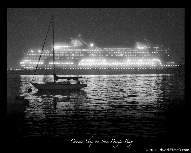 Cruise Ship on San Diego Bay