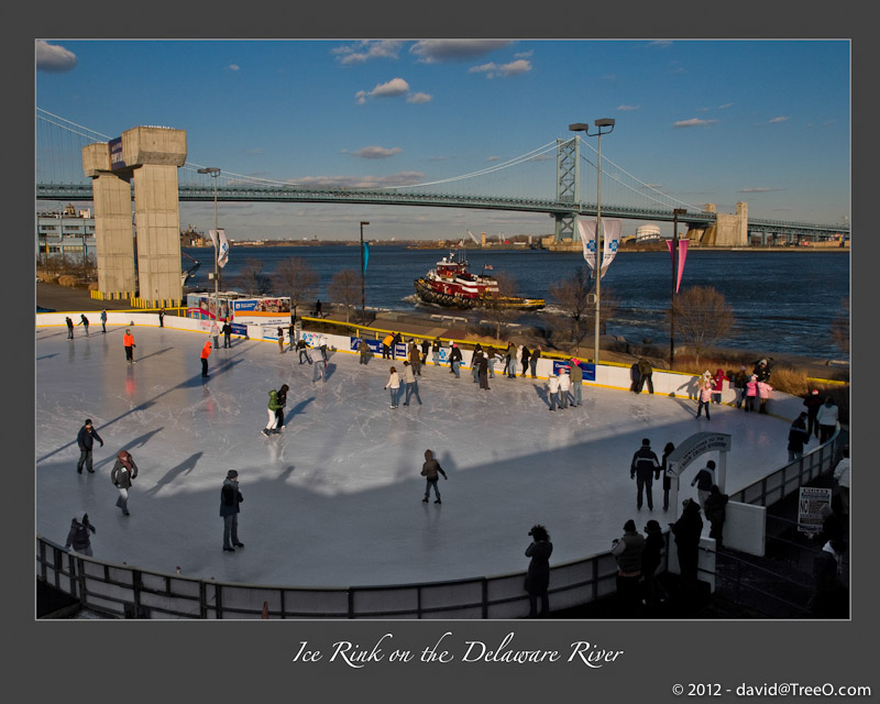 Ice Rink on the Delaware River