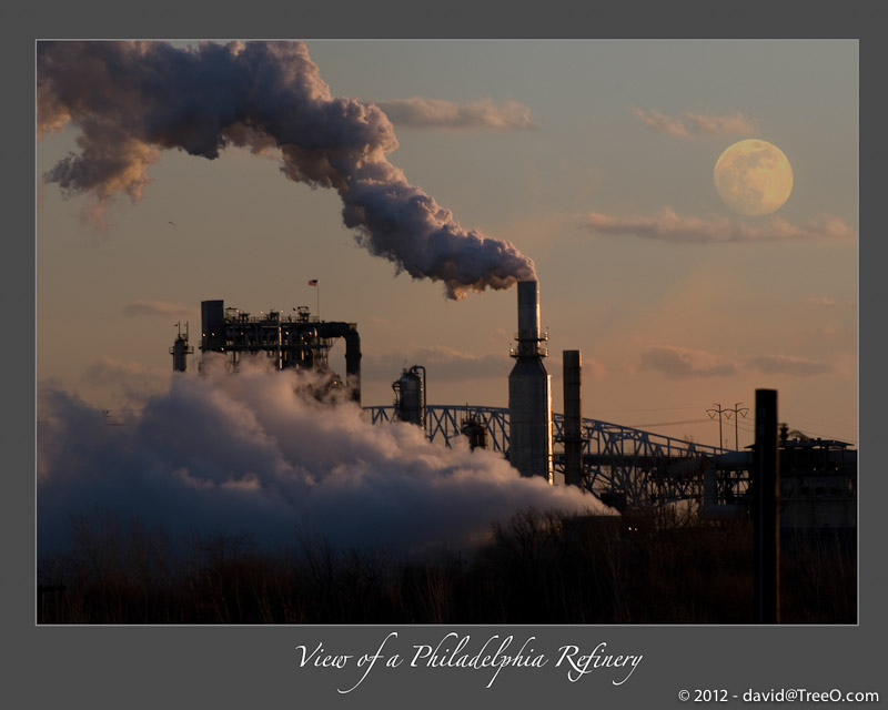 View of a Philadelphia Refinery