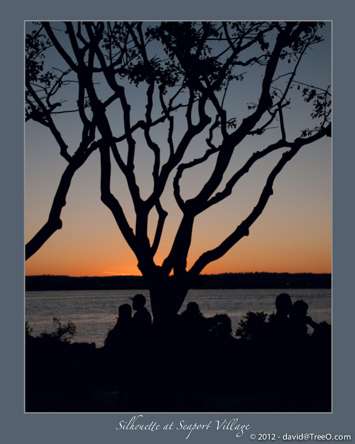 Silhouette at Seaport Village