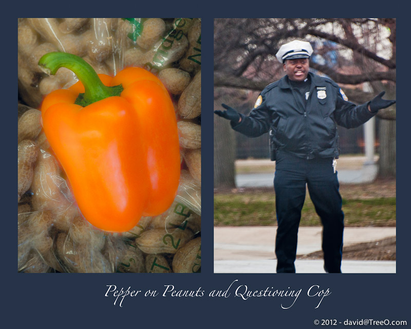 Pepper on Peanuts and Questioning Cop