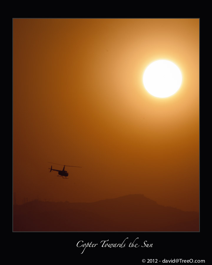 Copter Towards the Sun