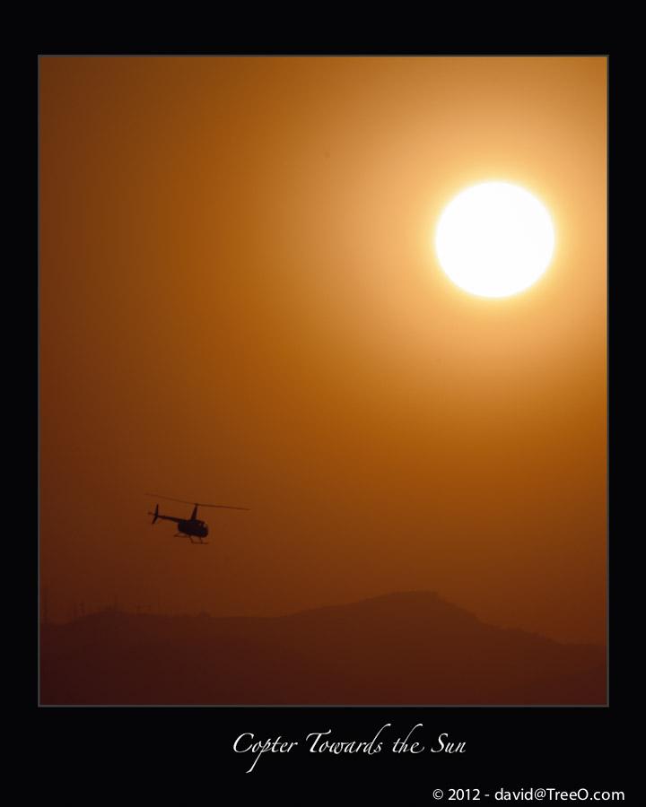 Copter Towards the Sun