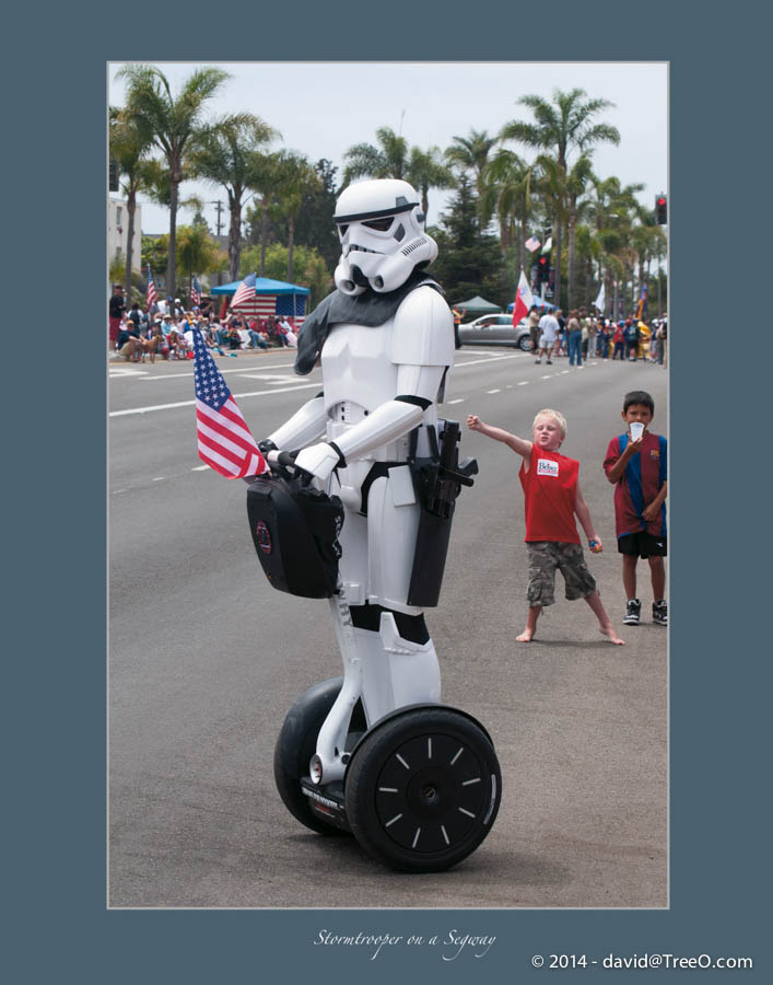 Stormtrooper on a Segway