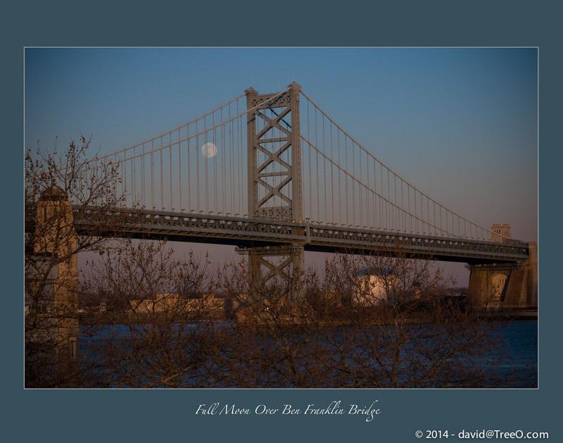 Full Moon Over Ben Franklin Bridge