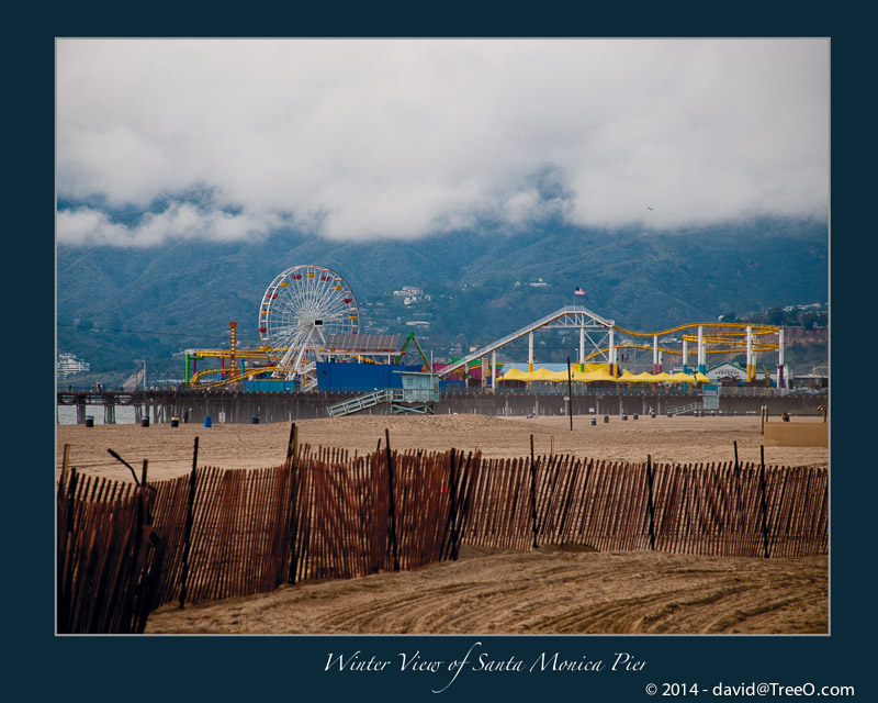 Winter View of Santa Monica Pier