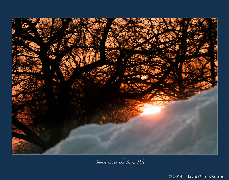Sunset Over the Snow Pile