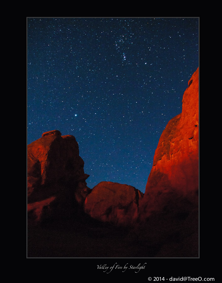 Valley of Fire by Starlight