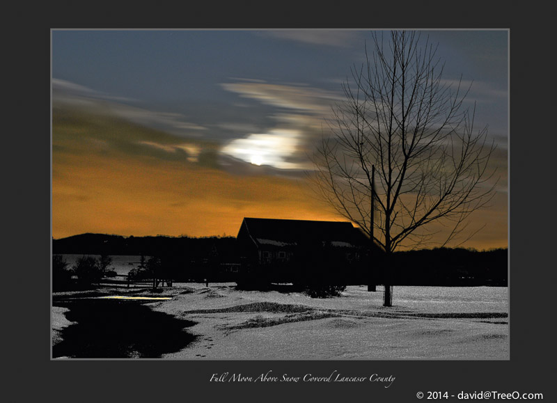 Full Moon Above Snow Covered Lancaser County