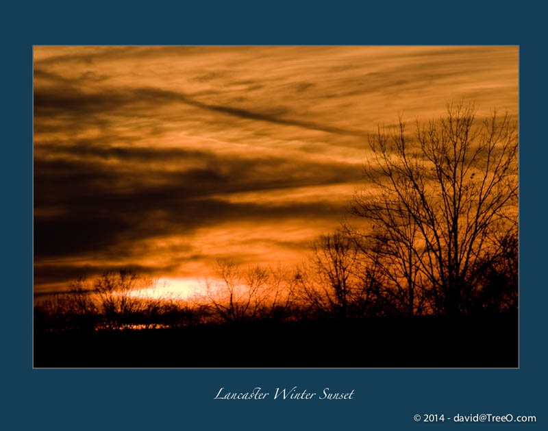Lancaster Winter Sunset